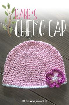 Barb's Chemo Cap Crochet Pattern | Free chemo hat crochet pattern by Little…