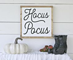 Hocus Pocus Sign,Halloween Signs,Halloween,Farmhouse signs, home and living, fall signs, fall decor, fall farmhouse, fall farmhouse sign