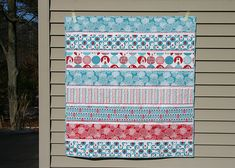Twin Fibers Brrrrrr! Baby Quilt.  Ahhh, easy piecing and ric rac.  Yes and yes.