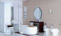 Miniature modern bath from apartmenttherapy.com