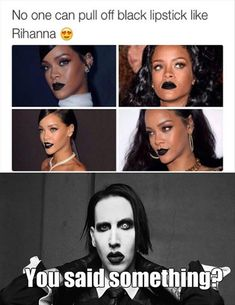 Lol, I was thinking, uh what about Manson? He does it way better, as I was scrolling down.
