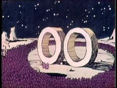 "From Episode 1 (1971).  ""oo"" and ""boom""."