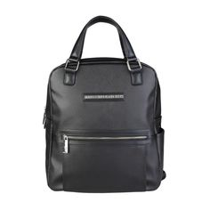 Trussardi Jeans New Mens Black Rucksack Backpack  71B990T Eco Leather Best price #Trussardi #Backpack