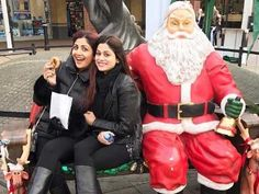 Its Christmas Eve! Shilpa Shetty and Shamita Shetty with family are chilling out by celebrating christmas in London