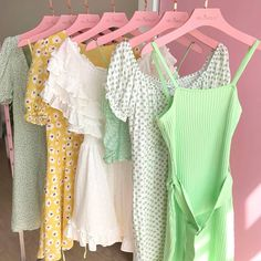 Move over pretty pinks! ❌ We're crushing on sugary sherbet shades at Hello Molly HQ! 💚💛🌻 Comment down below👇 if you're all for lemon yellows and sea foam greens! Shop via the link in our bio hellomolly 👍 Aesthetic Fashion, Aesthetic Clothes, Casual Outfits, Cute Outfits, Fashion Outfits, Film Fashion, Pastel Outfit, Spring Fashion, Ideias Fashion