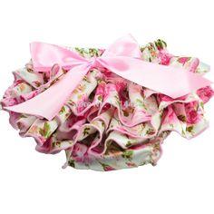 Meninas do bebê Floral cetim plissado bloomers com curva miúdos fralda cobrir-nascidos calças curtas bonito flor infantis frete grátis