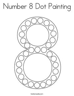 Number 6 Dot Painting Coloring Page - Twisty Noodle | Dot ...