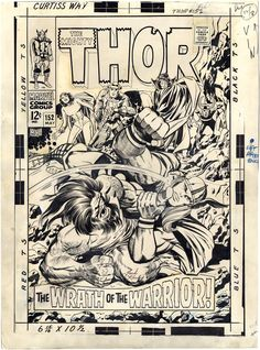 jack kirby thor152_cover
