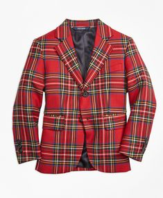 50aa8e220 Brooks Brothers · Tartan Takeover · Red-Multi Tartan, Plaid, Dapper, Men  Casual, Blazer, Buttons,