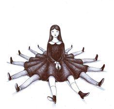 Virginia Mori The award-winning Italian artist Virginia Mori studied Illustration and Animation at the Art Institute of Urbino, improving their artistic imagination and initiating the implementation. Art And Illustration, Book Illustrations, Creepy Art, Weird Art, Arte Inspo, Pop Surrealism, Horror Art, Aesthetic Art, Cute Art