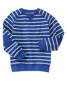 Striped Elbow Patch Pullover at Gymboree