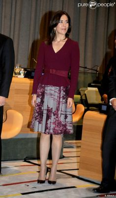 25 April 2013 - re opening of Trustee Council Chamber at UN in New York  What Princess Mary Wore