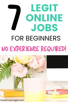 Looking for an online job with no experience? You can start working from home today with these 7 profitable options for beginners! Make Money From Home, Way To Make Money, Make Money Online, Creative Jobs, Easy Jobs, Work From Home Jobs, Online Work, Extra Money, Making Ideas