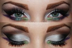 under eyeliner drama: Evening madness, love this look!