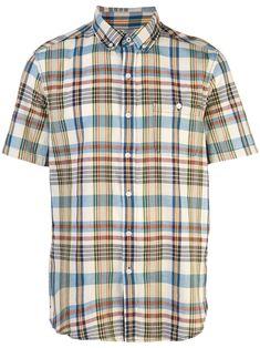 Michael Bastian Plaid Shirt In Multicolour Michael Bastian, Collar Styles, Size Clothing, Plaid, Shirt Designs, Women Wear, Short Sleeves, Men Casual, Mens Tops