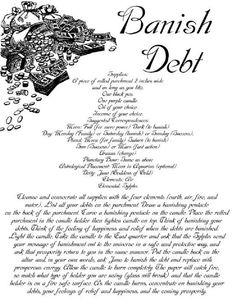 Banish debt