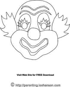 This Clown Mask Coloring Page is a FREE, downloadable     Printable. You can also use this line art as a digital stamp or craft template.