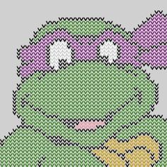 Hello my stitchers! When I was in Middle and High School (in the mid my brother and I would race home to watch The Teenaged Mutant Ninja Turtles . Yes we were raised nerd. Ninja Turtles Cartoon, Teenage Mutant Ninja Turtles, Cross Stitch Letters, Cross Stitch Charts, Stitch Patterns, Sewing Patterns, Bead Patterns, Crochet Patterns, Nija Turtles