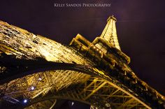 """Under the Stars"" - Kelly Sandos Photography. Eiffel Tower at Night, Paris, France"