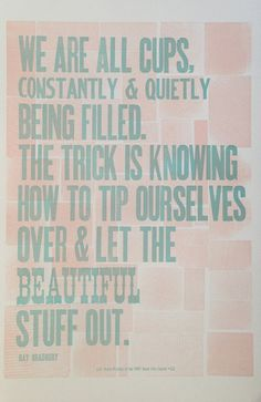 Ray Bradbury Letterpress Quote Print