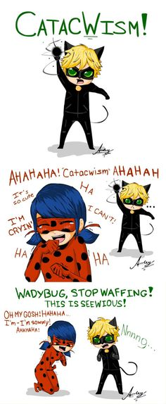 If they encounter an akuma that turns people into children~ Adorable! (Miraculous Ladybug)