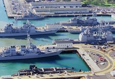 Pearl Harbor Hawaii- nice view up front...really huge Navy ships LOVEd IT