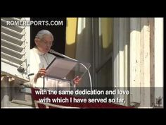 Pope's last Angelus: I will not abandon the Church. I will serve in a different way