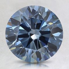 Loose Lab Created Fancy Deep Blue Round Diamond - 1.4 ct.