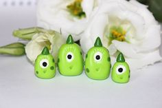Monster family  Hand Sculpted Miniature Polymer Clay by Veruness, $20.00