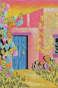 Mi Casita - Design by: Terry Medaris needlepoint canvas from Sundance