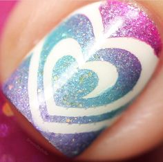 """Love this gorgeous macro by @bruisedupdollie using our I """"Heart"""" Nail Vinyls found at snailvinyls.com"""