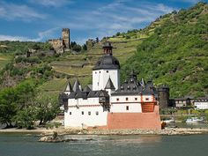 Pfalzgrafenstein Castle on the Rhine River in Germany. +Viking River Cruises…
