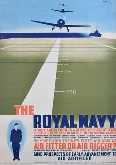 Pat Keely, Pat Keely: Join the Royal Navy recruitment poster 1939 World War 2 Fleet Air Arm, 1939 Royal Navy Recruitment, British Government, Civil Aviation, Mechanical Engineering, Aircraft Carrier, Portsmouth, Graphic Illustration, Illustrations, Federal