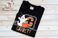 Halloween Ghost Frame Alpha Shirt - Appliqued and Monogrammed Halloween Shirt - Custom Boy Shirt by Whitesuggar on Etsy