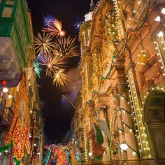 Festa season! There is a village feast in Malta every weekend throughout Summer!