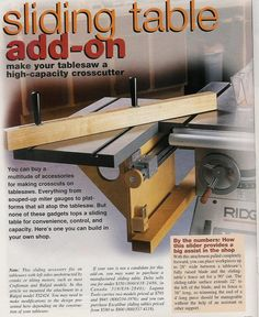 Anyone build their own Sliding Table Saw?
