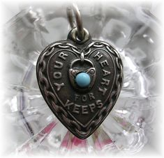 A beautiful 40's vintage puffy heart charm, this is an excellent example of a piece that should be treasured.