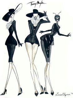 """My Fashion illustration: Thierry Mugler 1997 Haute Couture """"Les Insectes"""""""