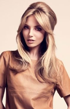 I really love this hair color! Soft, medium blonde.