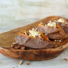 Baked Sweet Potatoes with Whipped Maple Butter and Toasted Pecans from The Well Floured Kitchen