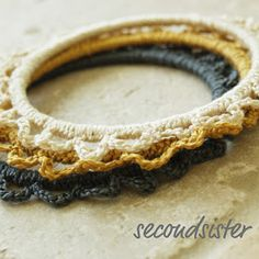 secondsister suaviloquy: granny chic scalloped bracelets