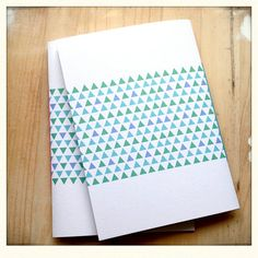 Hand Bound Journal Geometric Notebook Triangle by mipluseddesign