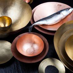 Form Bowl von Tom Dixon aus Messing und Kupfer