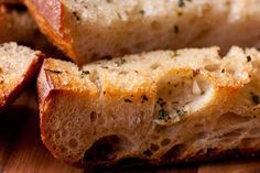 CHOW's Garlic Bread Recipe  8 tablespoons unsalted butter (1 stick), at room temperature 2 medium garlic cloves, minced 1 tablespoon finely chopped fresh Italian pars...