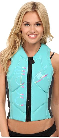 O'Neill Slasher Comp Vest (Light Aqua/Graph) Women's Vest - O'Neill, Slasher Comp Vest, 4531-A00, Apparel Top Vest, Vest, Top, Apparel, Clothes Clothing, Gift, - Street Fashion And Style Ideas