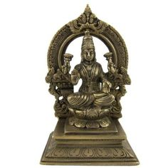 Amazon.com: Collectible Figurines Hindu Religious Brass Sculpture Laxmi 4.5 X 3 X 7: Furniture & Decor