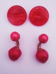 Vintage 1950s Earrings Lot /Clip/ Lucite/ by PeachburritoVintage http://etsy.me/GQAwb7 via @Etsy