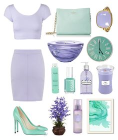 """""""Untitled #45"""" by badwolfco ❤ liked on Polyvore featuring Miss Selfridge, Balmain, Crabtree & Evelyn, Essie, Ella Bache, Marie Hélène de Taillac, Kate Spade, Nearly Natural, Kosta Boda and WoodWick"""