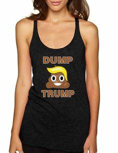 Dump Trump 2016 elections emoji Women Triblend Tanktop - ALLNTRENDSHOP