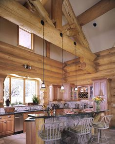 Kitchen Photos Log Home Design, Pictures, Remodel, Decor and Ideas